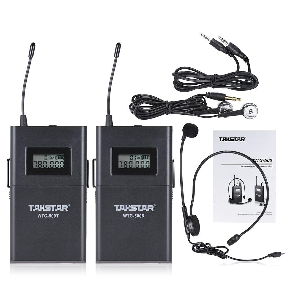 UHF Sans Fil Acoustique Transmission Système 100 m Portée Efficace avec Cravate Microphone Écouteur Câble de Conversion-in Microphones from Electronique    1