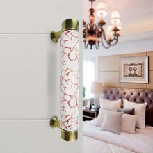 96mm vintage Dresser Pulls Drawer Pull Handle Kitchen Cabinet Handle Red White black Bronze Porcelain Furniture