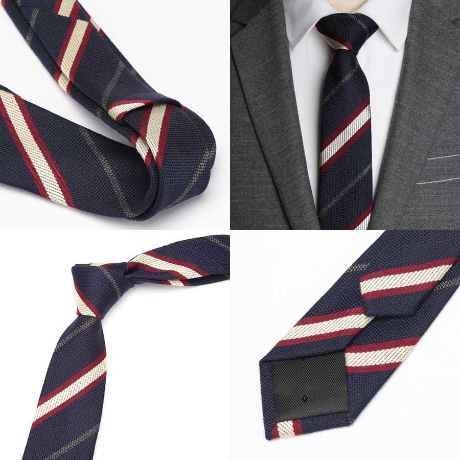 الرجال التعادل الصوف الفاخرة شريط موضة سليم التعادل الكلاسيكية العلامة التجارية مريحة رجالي فستان الزفاف حفلة الأعمال جودة قميص ربطة العنق