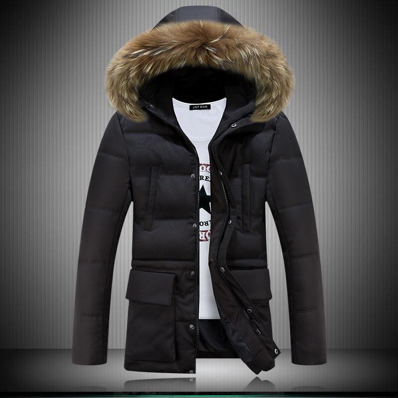 Adibo Mens Winter Jackets Men Goose Down Coats Thicked Winter Jacket Men Coat With Collar Fur Parka Manteau Homme Hiver Abrigos