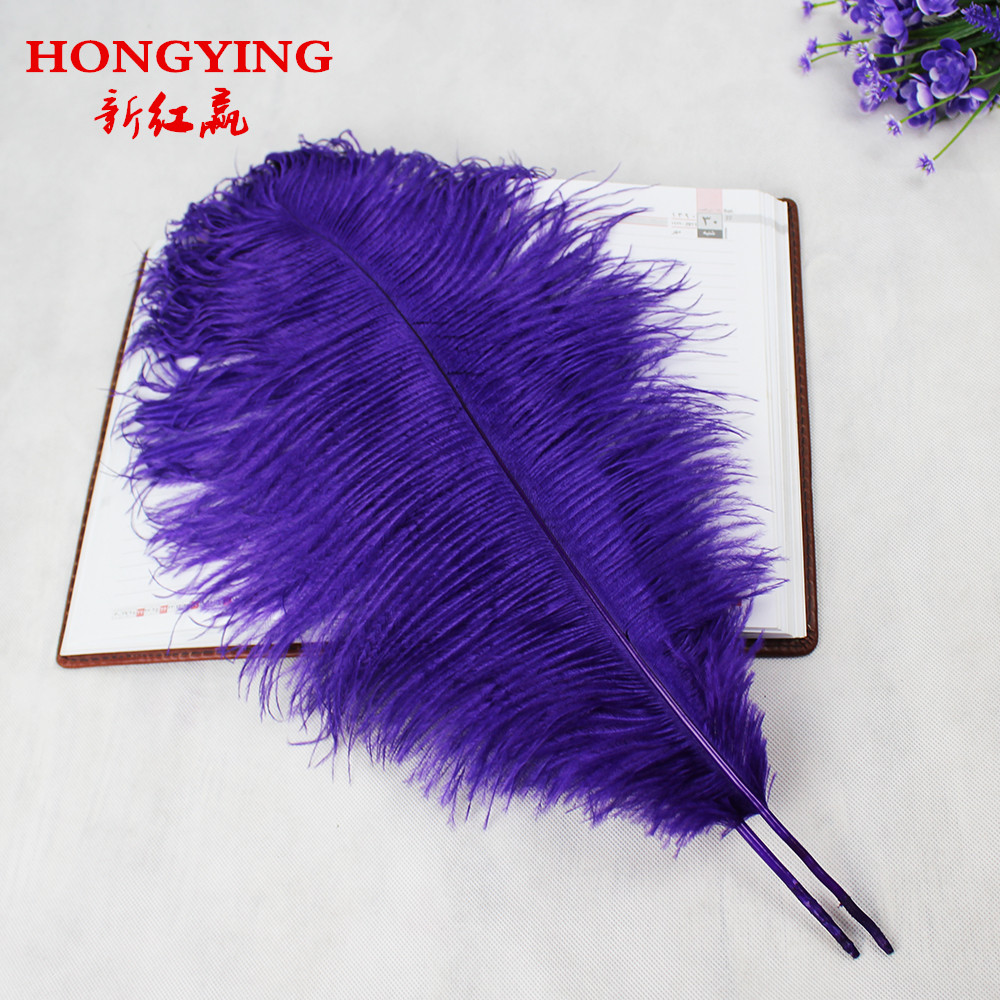 ̀ •́ 10 unids pluma de avestruz púrpura natural 50-55 cm/20 a 22 ...