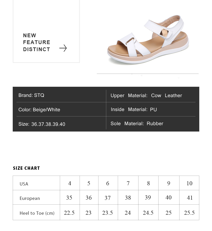 2622558dca0 STQ 2017 Women Sandals Summer Genuine Leather Flat Sandals Ankle ...