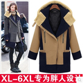 Mujeres libres del envío más el tamaño de lana cuello de piel de moda de lujo diseño de foso de Lana marca tops xxxl grande xxxxxl 5xl 6XL