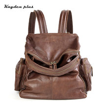 hot deal buy kayden plus brand women backpack for girls boys genuine leather fashion backpacks female fashion bags ladies school bag