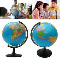 32cm World Terrestrial Globe Map Ornaments with Stand Geography Educational Toys Home Office Desktop Decor School Supplies Gift