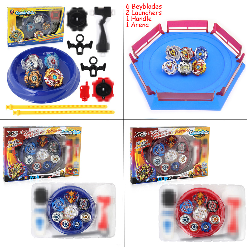 Spinning Top Toupie Beyblade Burst Arena Stadium Bayblade Metal Fusion 4D Bey Blade Blades Toys Beyblades With Launcher Handle цена
