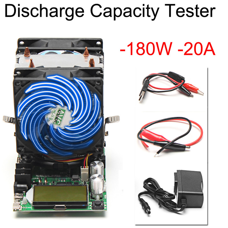 4Pcs/set 200V 20A 180W Constant Current Electronic Load Battery Discharge Capacity Tester Measurement & Analysis Instruments ebc a40l high current battery capacity tester battery line graph battery tester battery testing 20acharge 40a discharge