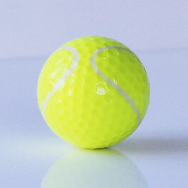 Free Shipping 6pcs/lot Tennis Golf Balls Two Layers Golf Balls Golf Practice Ball Golf gift balls