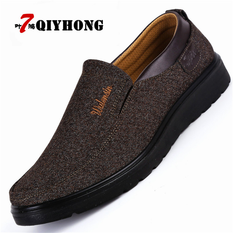 2018 New Arrival Spring Summer Comfortable Casual Shoes Mens Canvas Shoes For Men Comfort Shoes Brand Fashion Flat Loafers Shoe brand new spring casual boys canvas low top shoes slip on mens lightweight canvas shoes for young men fashion flat shoes ac 07