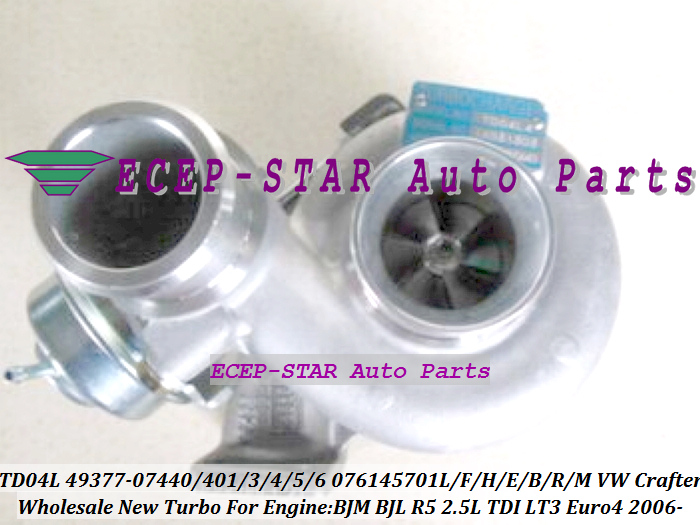 TD04L 49377-07440 49377-07401 076145702A 076145701L Turbo Turbocharger For VW Crafter 2006- BJM BJL R5 2.5L TDI LT3 Euro4 2.5L (1)