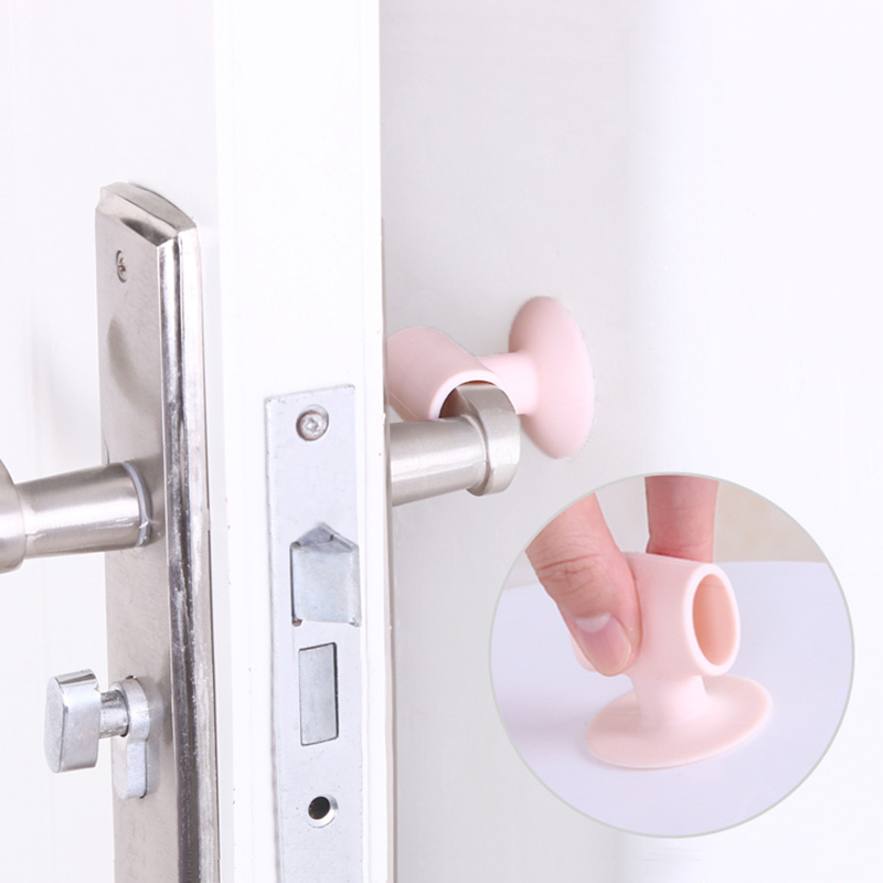 3pcs Creative door handle protective cover wall crash cushions Door Lock Protective Pad Protection Wall Stick home baby safety in Door Knob Covers from Home Garden