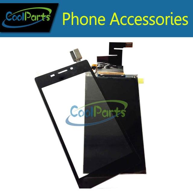 Alta qualidade para sony xperia m2 aqua & m2 s50h d2403 Display LCD e de Toque Digitador Da Tela de Cor Preta Frete Grátis 1 Pc/lote