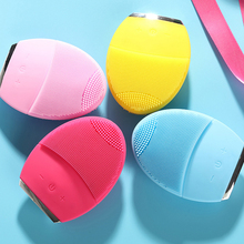 Face-Cleanser Massage-Skin Deep-Cleaning-Device Ultrasonic Rechargeable Silicone Waterproof