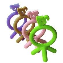 Детские трофеи с симпатичным принтом «Кот», подвеска ожерелье аксессуар без БФА, силиконовый Прорезыватель жевать талисманы новорожденных Прорезыватели для зубов