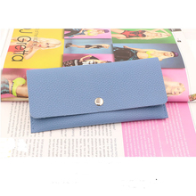 Hot sale new Korean Long Women wallet Candy colors Female purse Leather/PU  Ladies Solid color soft surface wallet women's purse