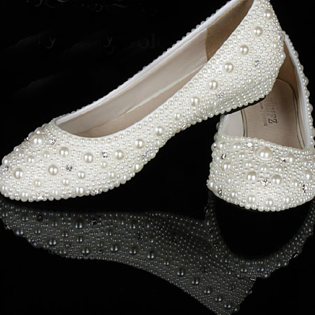 Elegant Wedge Heel Wedding Bridal Shoes bridesmaid Shoes Big Size 34 ...
