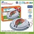 Китай ФК 3D Puzzle Бумажная Модель Цзинань Aoti центр футбольный стадион DIY модель головоломка бумаги