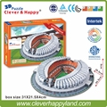 China FC  Stadium 3D Puzzle Model Paper Jinan Aoti center football stadium  DIY puzzle paper model