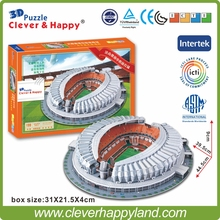 China FC  Stadium 3D Puzzle Model Paper Jinan Aoti center football stadium  DIY puzzle paper model