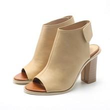 Europa y el gran verano nueva Roma sandalia del dedo del pie zapatos sandalias cómodas de tacón alto sandalias OL ocupación laboral gruesa zapatos grandes