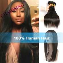 360 Lace Frontal With Bundle  Brazilian Straight 360 Frontal With Bundles Top 360 Lace Frontal Closure With Bundles Human Hair