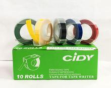 5 uds máquina de etiquetas manuales cinta 9mm DIY Oficina regalos con cinta viscosa DIY impresora papel de etiquetas