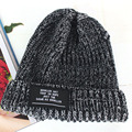 New 2016 Autumn Winter Hats for Men and Women Wool Plain Beanies Knitted Cap Brand Lovers Warm Fashion Hip Hop Hat Black L5