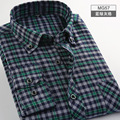 2016 Flannel Men Plaid Shirts 2016 New Autumn Slim Long Sleeve Brand Formal Business Fashion Dress Warm Shirts