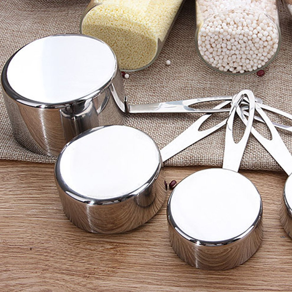Set of 5 Stainless Steel Measuring Cups 2