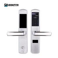 LANXSTAR 304 Steel Over Medium Type Lockbody Fingerprint Password Intelligent Card Mechanical Key Lock 5 in 1 Anti theft Locks