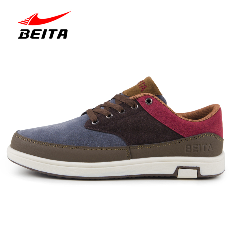 Beita Brand Flock Leather Massage Man's Flats Fashion Autumn Casual Shoes for Man with Lace-Up Hard-Wearing Men Shoes Footwear new 2016 medium b m massage top fashion brand man footwear men s shoes for men daily casual spring man s free shipping
