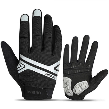 INBIKE Men Autumn Cycling Gloves Touch Screen Women MTB Road Bike Bicycle Gloves Winter Windproof Sports Full Finger Soft Gloves brompton stickers