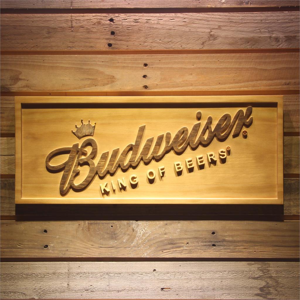 Budweiser Beer 3D Wooden Sign