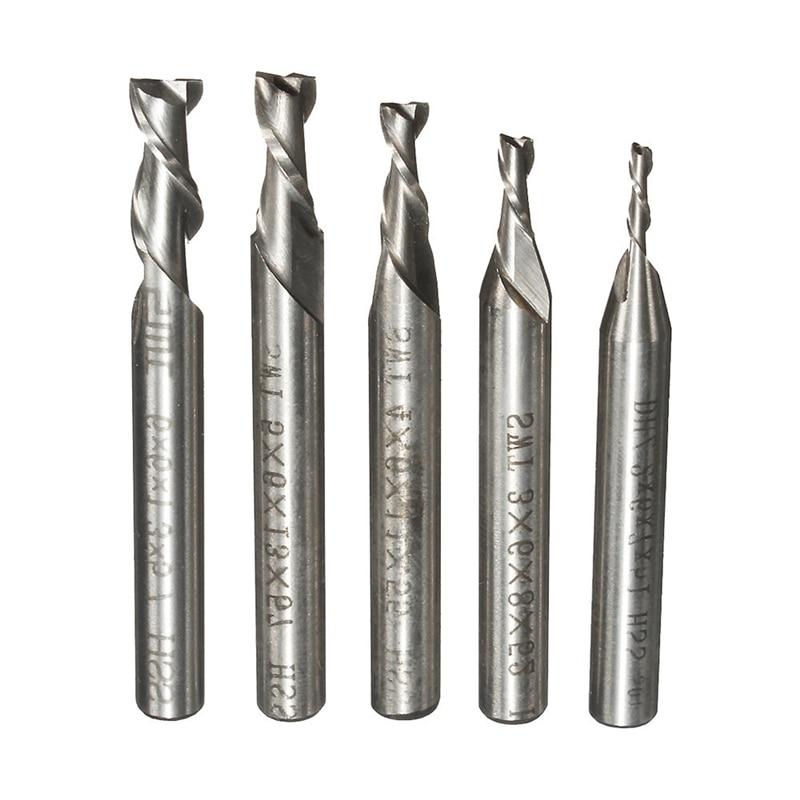 5x HSS Extra Long 6mm 2 Flute Straight Shank Aluminium End Mill Cutter CNC Bit