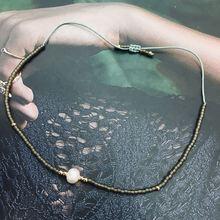 Single Pearl Bracelet Women Delica Beads Seed Crystal Adjustable Handmade Weave Ethnic Jewelry Accessories Friends Gift