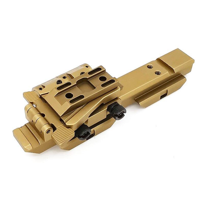 "SOTAC-GEAR Tactical G33 Mounts Magnifier Flip-To-Side Quick Detach w/ 5/8"" Riser for G23 3X Magnifiers Fits 20mm Picatinny Rail"
