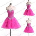 SML1836 Glittering Ball gown Heavy beaded Tulle Party dress 2017 Teenager mini cocktail short dresses
