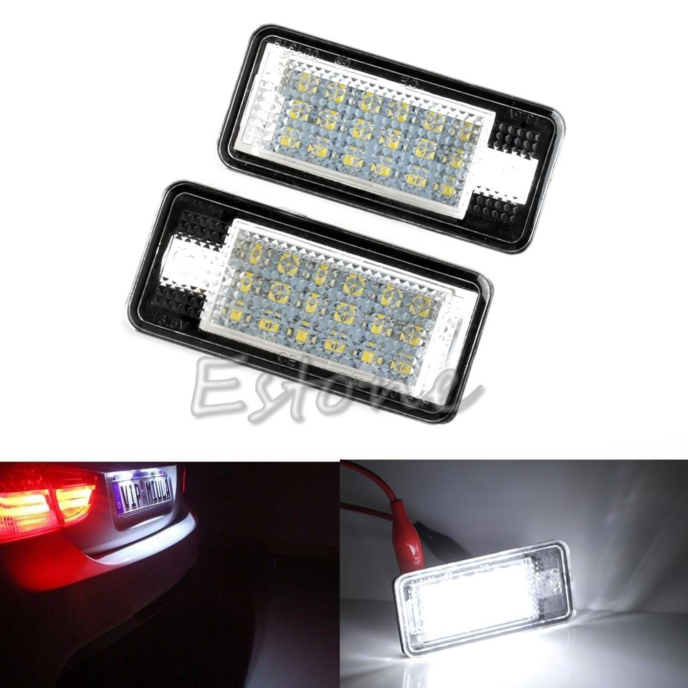 все цены на 18 LED License Plate Lights Lamps For Audi A3 A4 S4 B6 B7 S3 A6 S6 A8 Q7 RS4 RS6 онлайн