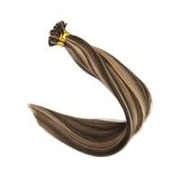Full Shine Pre Bonded Hair U Tip Extensions Balayage Colored Extensions 50g 100% Remy Hair U Tip Hair Extensions Human Hair