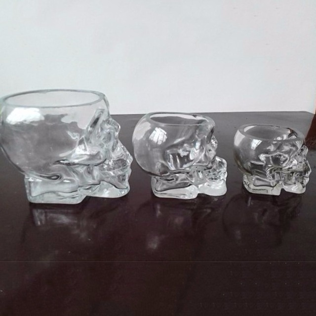 80ML/150ML/300ML Cool Crystal Skull Head Shot Glass Transparent Whiskey Beer Wine Water Glass Cup Mug Home Kitchen Drinkware