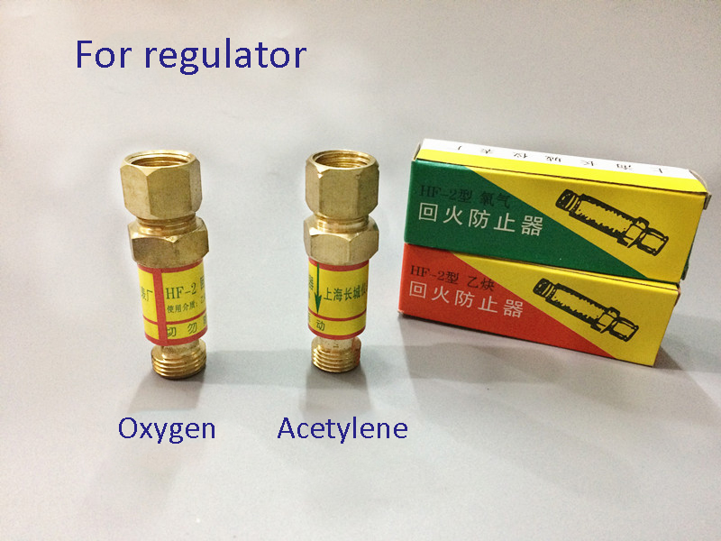 US $3 5 |HF 2 Flashback Arrestor oxygen acetylene propane Check Valve Flame  Buster for Pressure Reducer Regulator Gas Cutting Torch-in Tool Parts from