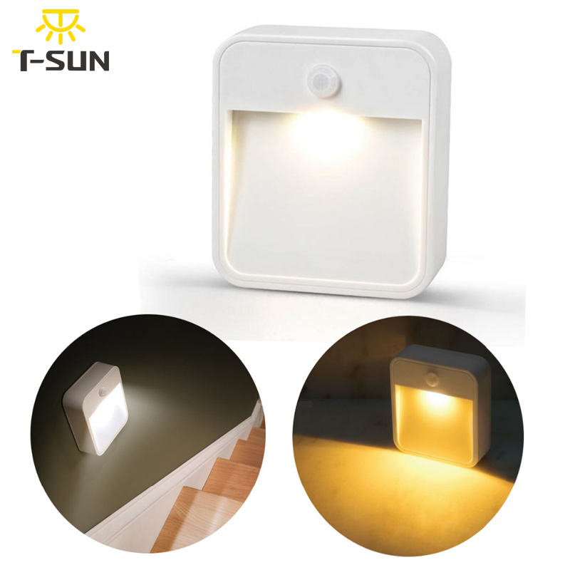 T-SUNRISE LED Night Light Lampu Lampu Dinding Nirkabel dengan Sensor - Lampu malam