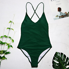 2019 women Swimwear Sexy high cut one piece swimsuit Backless swim suit Black White Red  thong Bathing suit female Monokini 2741
