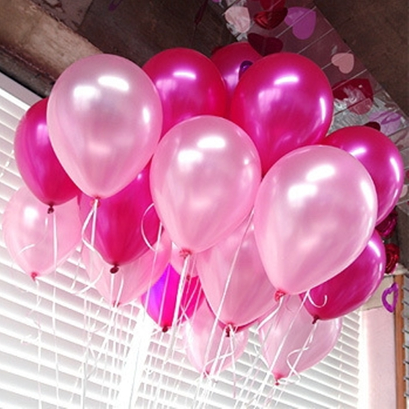 10pcs/lot 10inch Rose Pearl Latex Balloons 21 Colors Inflatable Round Air Balls Wedding Happy Birthday Party Balloons Decoration