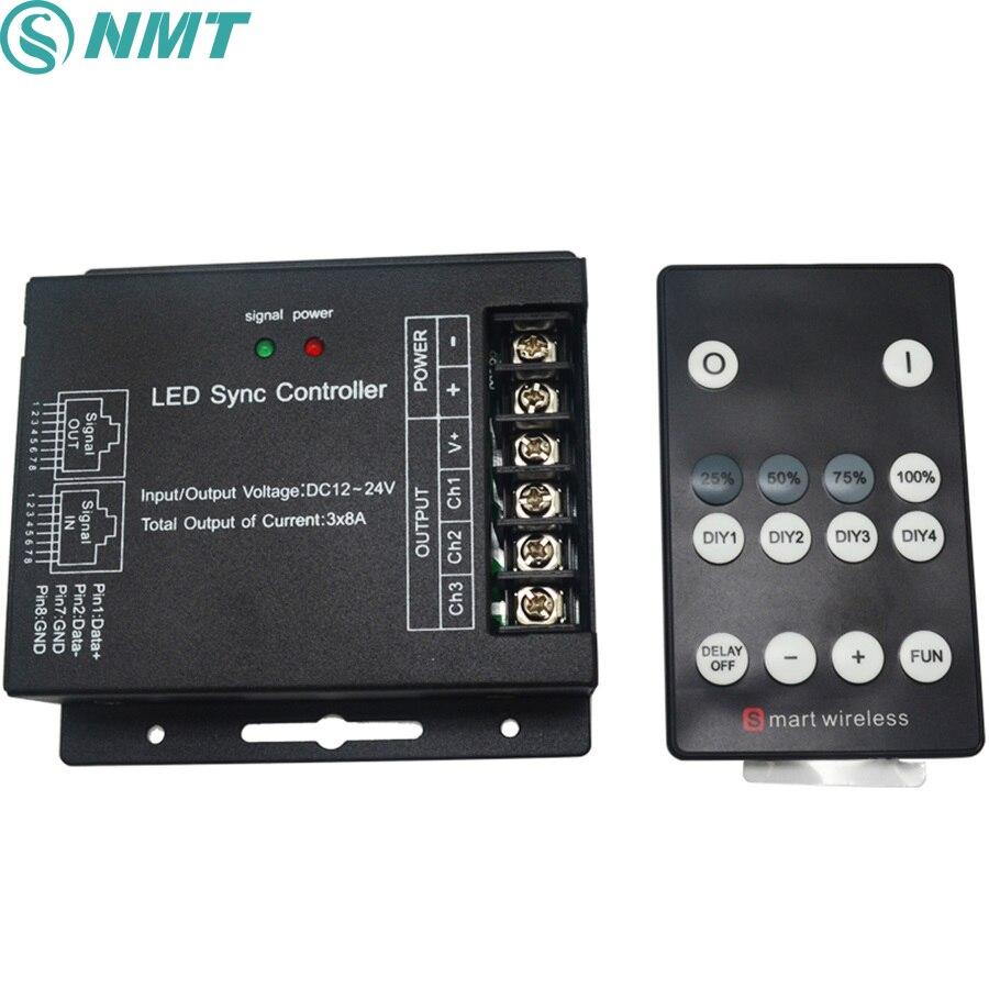 20pcs Lot 50cm Dc12v Dimmable Touch Sensor Light Led Strip: DC12V 24V DIY Led Controller Dimmer RF Wireless Remote 3