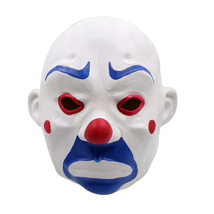 Adult Batman Joker Clown Bank Robber Mask Dark Knight Costume Halloween Masquerade Party Fancy latex Mask Free Shipping