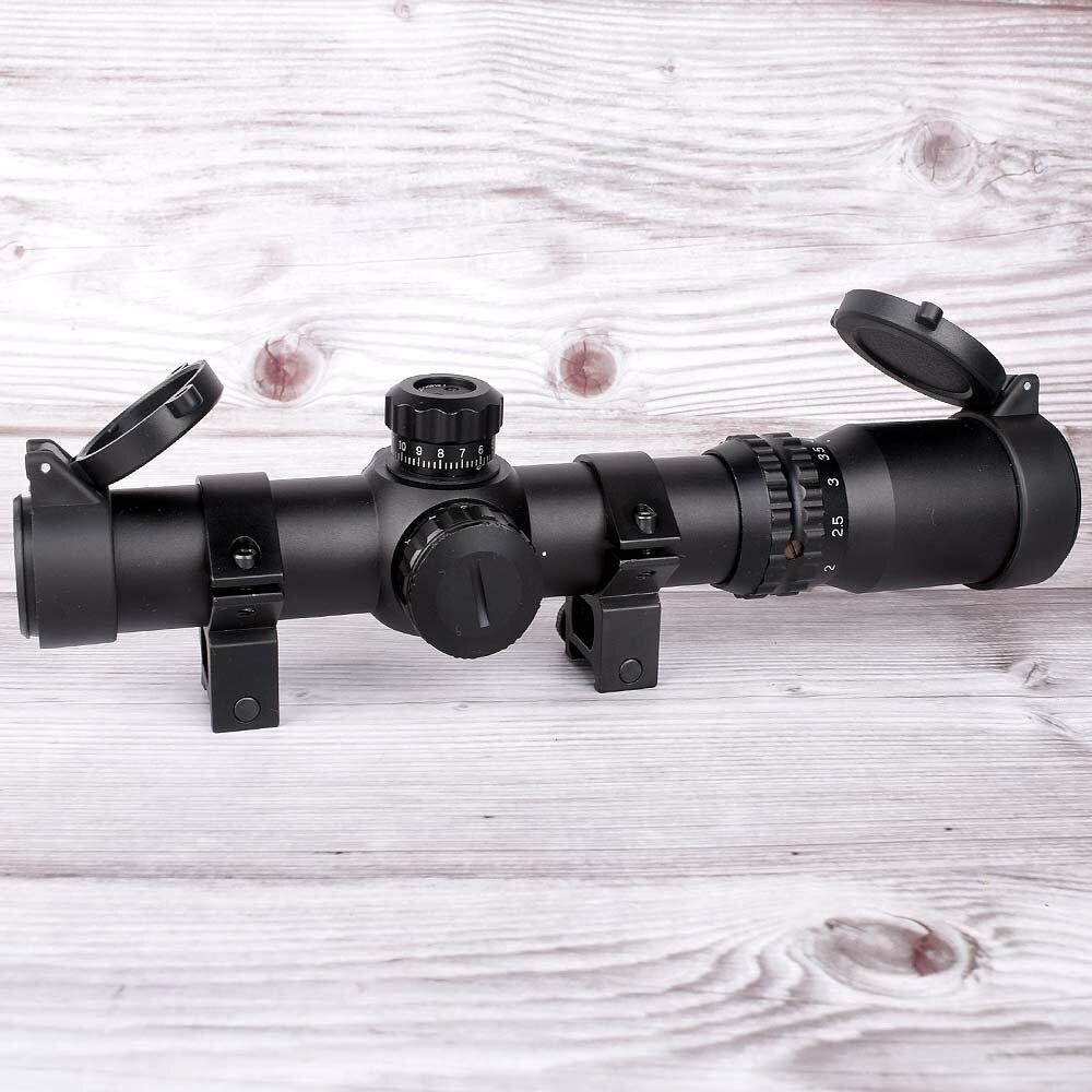 riflescope caca 1 4x24 se optica longo alivio dos olhos iluminacao vermelho ou verde reticulo a