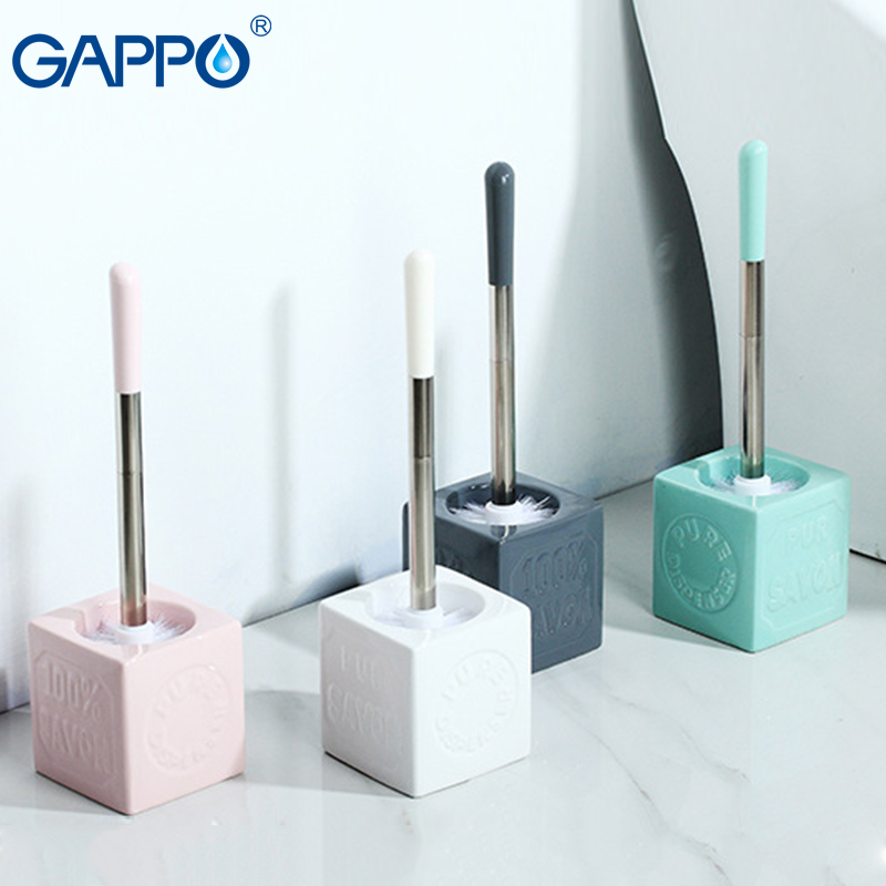 GAPPO toilet brush holders porcelain/stainless steel toilet brush colorful toilet brush sets bathroom accesories все цены
