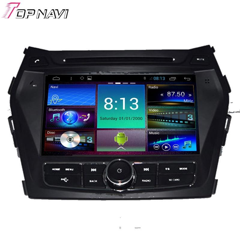 Topnavi 8'' Quad Core Android 6.0 Car DVD Multimedia Player for Hyundai IX45 Autoradio GPS Navigation Audio Stereo Bluetooth