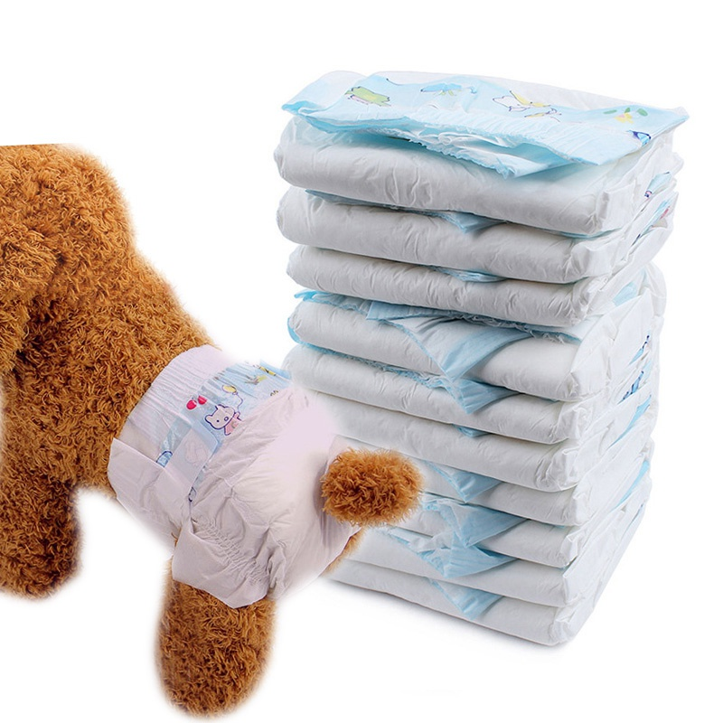 New Arrival Pet Diapers Puppy Disposable Nappies Comfy Breathable Physiological Pants Female Dog Menstrual Sanitary Pants 10PCS